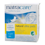 NatraCare Ultra Pads With Wings Super 12 Per Package