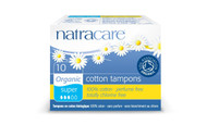 NatraCare Organic Cotton Super Non Applicator Tampons 10 Per Package