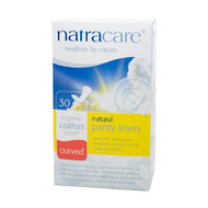 NatraCare Curved Panty Liners 30 Per Package
