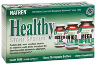 Natren Healthy Start System Dairy Free - 3 Bottles of 30 Capsules