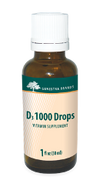 Genestra D3 1000 Drops 1 fl oz (30 ml)