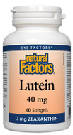 Natural Factors Lutein 40 Mg 60 Softgels