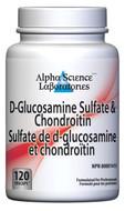 Alpha Science D-Glucosamine Chondroitin 120 Capsules