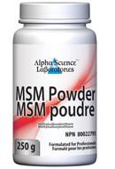 Alpha Science MSM Powder 250 Grams