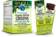 Whole Earth & Sea Organic Vegan Greens Protein Bar By Natural Factors Box of 6