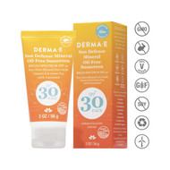 Derma e Sun Defense Mineral Oil-Free Sunscreen Face SPF 30 - 56 g