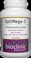 Bioclinic Naturals OptiMega 3 - 180 Softgels