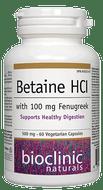 Bioclinic Naturals Betaine HCI 60 Veg Capsules