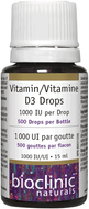 Bioclinics Naturals Vitamin D3 Drops 1000 IU 15 Ml