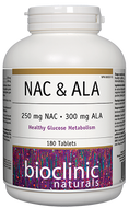 Bioclinic Naturals NAC And ALA 180 Tablets