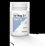 Trophic Calcium Magnesium Chelazome 2:1 - 120 Veg Capsules
