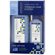 Andalou Naturals Argan Stem Cells Age Defying Thinning Hair System 3 Pieces
