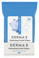 Derma e Hydrating Facial Wipes Pack of 25