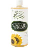 Green Beaver Sunflower Castile Soap Unscented 1 Litter