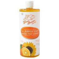 Green Beaver Sunflower Castile Soap Orange 1 Litter