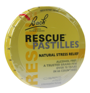Bach Rescue Pastiles Original Flavor Pack of 6x50 Grams