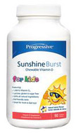 Progressive Sunshine Burst Vitamin D For Kids 120 Chewable Softgels