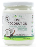 Alpha Health DME Raw Organic Virgin Coconut Oil 475 ml Glass Jar