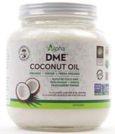 Alpha Health DME Raw Organic Virgin Coconut Oil 1.75L Glass Jar