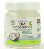 Alpha Health DME Raw Organic Virgin Coconut Oil 110 ml Peppermint