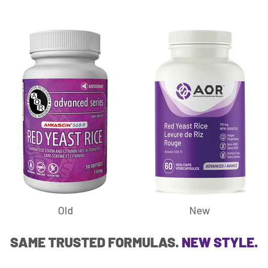 AOR Red Yeast Rice 30 Softgels New Style
