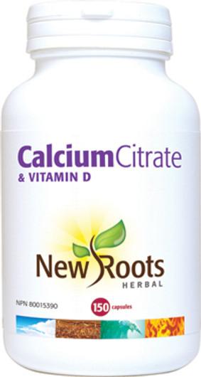 New Roots Calcium Citrate & Vitamin D 150 Veg Capsules