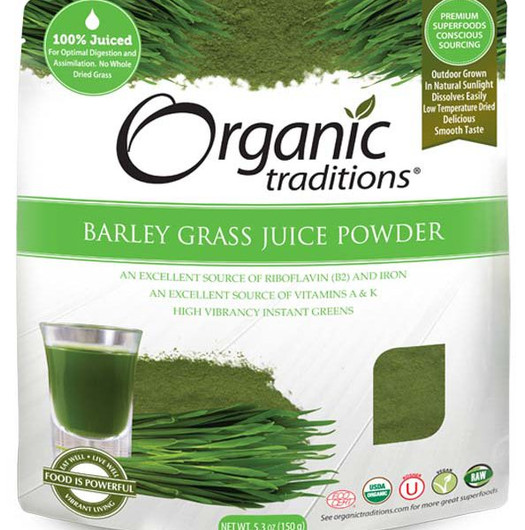 Organic Traditions Barley Grass Juice Powder 150 g