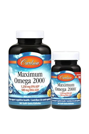 Carlson Maximum Omega 2000-120 Softgels