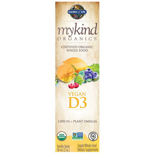 Garden of Life mykind Organics Vegan Vitamin D3 Spray 58 ml