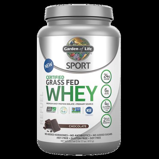 Garden of Life SPORT Certified Grass Fed Whey Chocolate 672 g