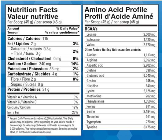 Vegan Pure Sport Performance Protein Vanilla 447 g Label
