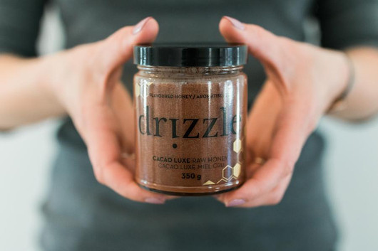 Drizzle Cacao Luxe Raw Honey 350g Coffe Cup
