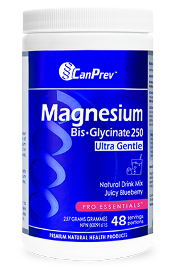 CanPrev Magnesium Bis Glycinate Drink Mix Juicy Blueberry 257g