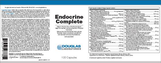 Douglas Laboratories Endocrine Complete 120 Capsules label