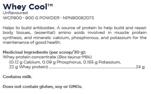 Designs for Health Whey Cool Unflavoured 900 g