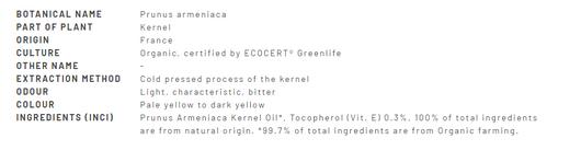 Divine Essence Organic Apricot Kernel Oil 30ml - Description