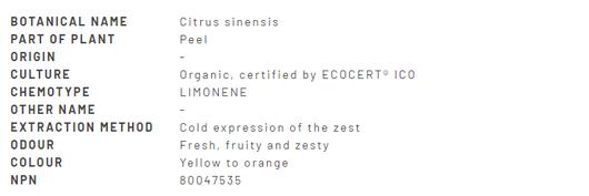 Divine Essence Orange-Sweet Essential Oil Organic 15ml - Description