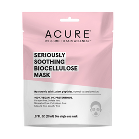 Acure Seriously Soothing Biocellulose Gel Mask Pack of 12