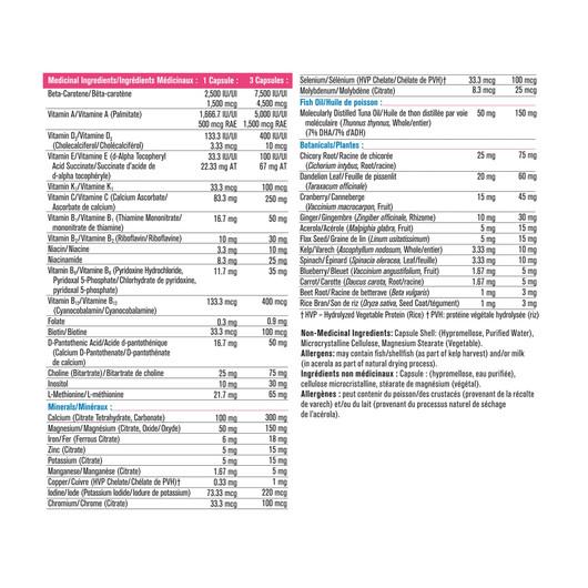 Progressive Multivitamin Prenatal  120 Veg Capsules label 1