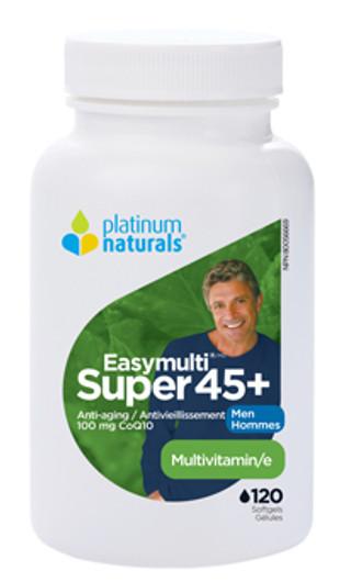 Platinum Naturals Super Easymulti For Men 45 Plus 120 Softgels