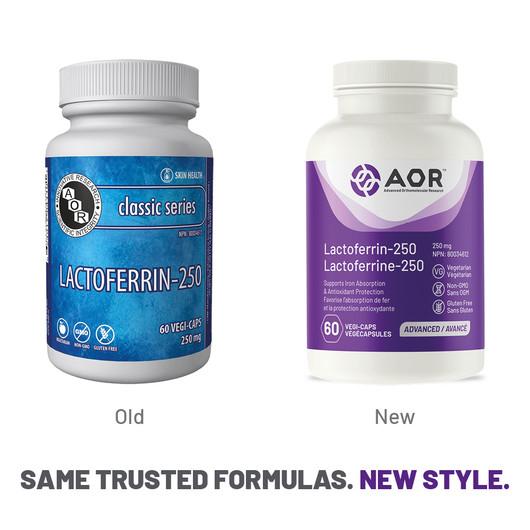 }AOR Lactoferrin 250 mg - 60 Veg Capsules New Style