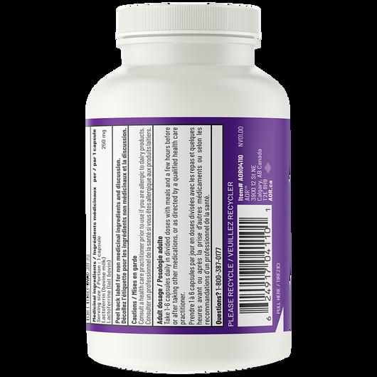 AOR Lactoferrin 250 mg - 60 Veg Capsules Medicinal Ingredients