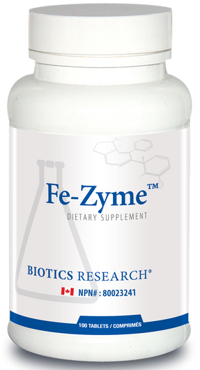 Biotics Research Fe Zyme 100 Tablets