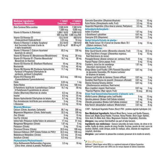 Progressive Adult Women Chewable Multivitamin 60 Tablets label 1