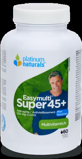 Platinum Naturals Super Easymulti For Men 45 Plus 60 Softgels