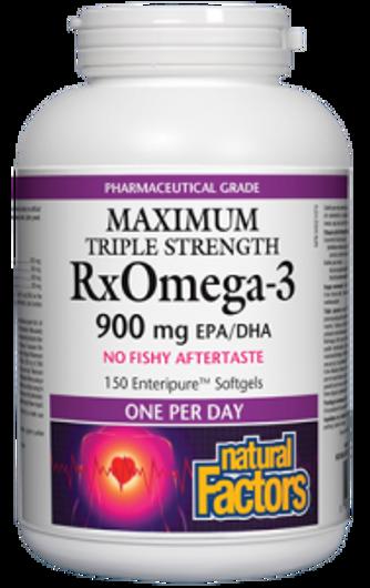 Natural Factors Maximum Triple Strength RxOmega3 150 Enteric Coated Softgels