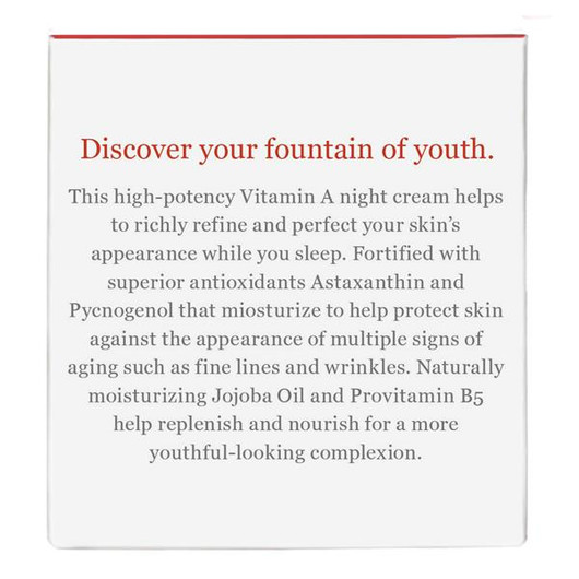 Derma e Anti-Aging Regenerative Night Cream 56 Grams label