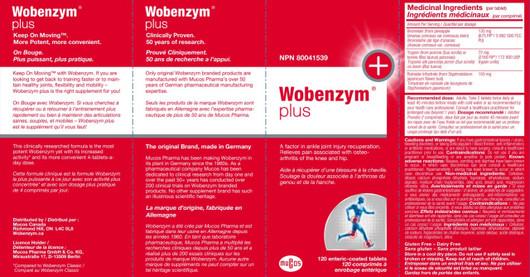 Douglas Laboratories Wobenzym Plus 120 Tablets Label