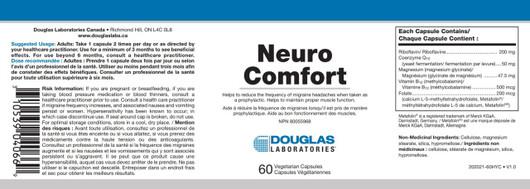 Douglas Laboratories Neuro Comfort 60 Capsules label