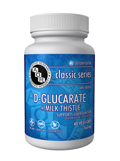 Aor D Glucarate Plus Milk Thistle 60 Veg Capsules (1061)